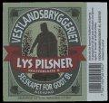 Lys Pilsner Selskapet for godt �l - Frontlabel