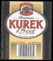 Premium Kurek Beer with barcode