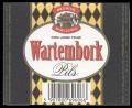 Wartekbork Pils with barcode