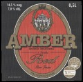 Amber red - Front label