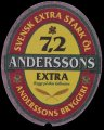 Anderssons Extra 7,2% - Frontlabel