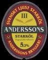 Anderssons stark�l 5,2% - Frontlabel
