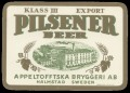 Pilsner Beer Klass III Export - Frontlabel