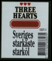 Three Hearts Extra Strong - Backlabel