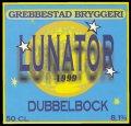 Lunator 1999 Dubbelbock - Frontlabel