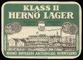 Klass II Hern� Lager - Frontlabel