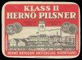 Klass II Hern� Pilsner - Frontlabel