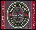 Hole in one Swedish Lager - Frontlabel
