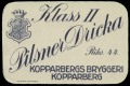 Pilsner Dricka - Frontlabel