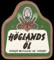 H�glands �l - Frontlabel