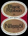 Black Ribbon N�ssj�l - Frontlabel