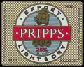 Pripps light and dry export - Frontlabel