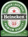 Heineken Lager Beer Premium Quality - Frontlabel