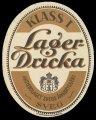 Lagerdricka Klass I - Frontlabel