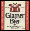 Glarner Bier mit Felsenquellwasser gebraut