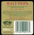 Malt & Hops - The 1997 Brew - Backlabel