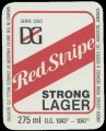 Red Stripe Strong Lager - Front Label