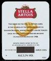 Stella Artois - Back label