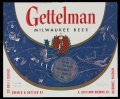 Gettelman Milwaukee Beer - Blue Label