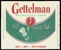 Gettelman Milwaukee Beer - Green Label