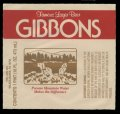 Gibbons Famous Lager Beer