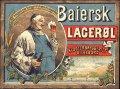Baiersk Lager�l - firkantet etiket med brygger