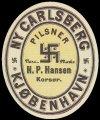 Pilsner - aftapperetiket H. P. Hansen Kors�r
