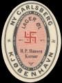 Lager�l - aftapperetiket H. P. Hansen Kors�r
