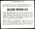 Belgisk Brown Ale - Specialbryg