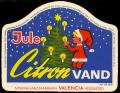 Jule Citronvand med varedeklaration